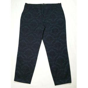 ZARA Women Damask Cropped Crop Capri Pants 2722E1